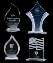Engraved Firefighter Crystal & Glass Awards