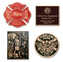 Firefighter Cast Bronze Plaques