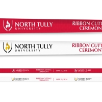 Full Color Printed Banner Ribbons