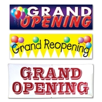 Ceremonial Grand Opening Banners