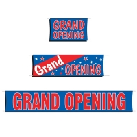 Fluorescent Grand Opening Banners