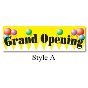 Full Color Vinyl Grand Opening Banners