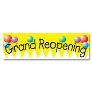 Ceremonial Grand Re-Opening Banner