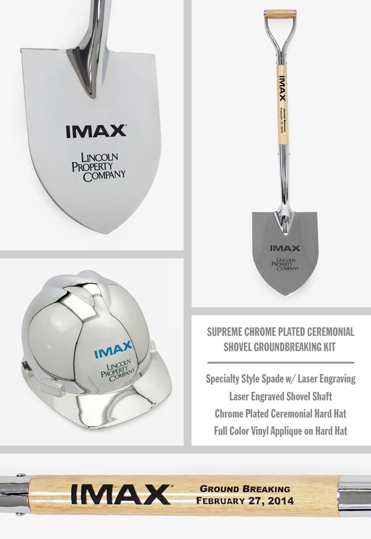 Supreme Chrome Plated Ceremonial Shovel Groundbreaking Kit - Personalized