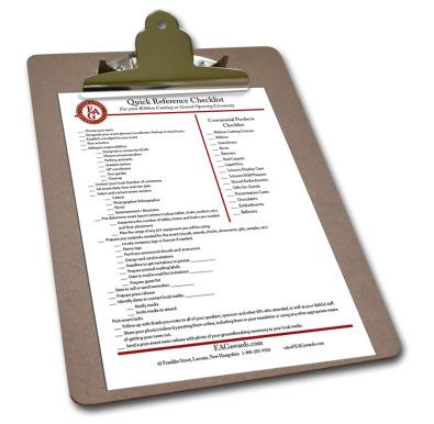Ceremonial Ribbon Cutting Checklist