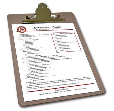 Groundbreaking Ceremony Checklist